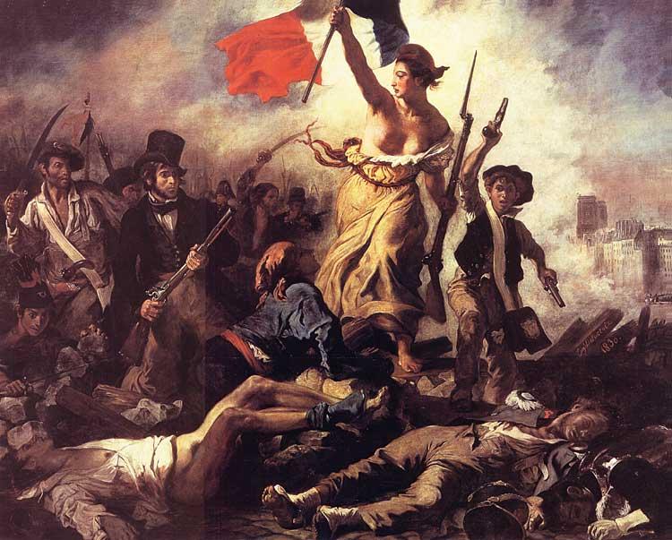 Delacroix, Wolność wiodąca lud na barykady
